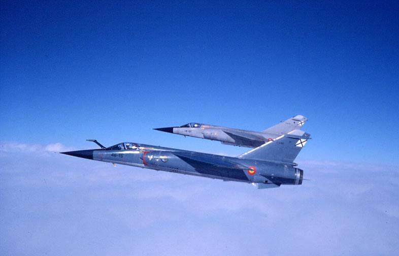 Foto: Dos Mirage F1 volando en formación ( Ejército del Aire )