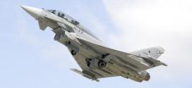 Vista del Eurofighter en vuelo, en el momento del despegue. / Ejército del Aire