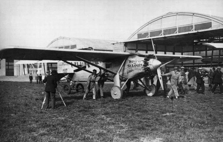 Llegada de Lindberg a París el 21 mayo de 1927
