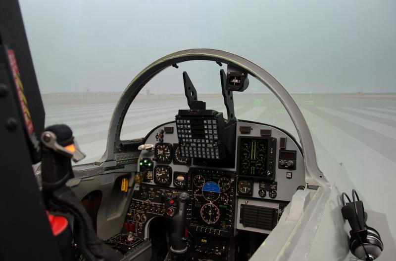Simulador de un F-5 de la Base Aérea de Talavera la Real