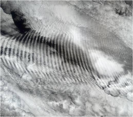 Ondas de gravedad debidas a convección profunda Fuente: NASA