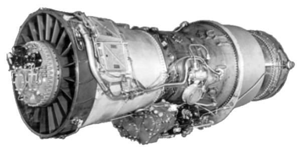 Motor J-57. (USAF).