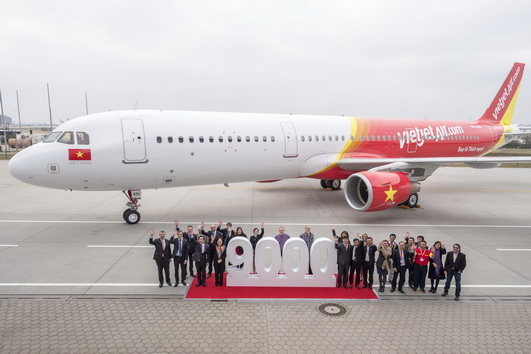 VietJetAir first A321 Delivery Ceremony in Hamburg_