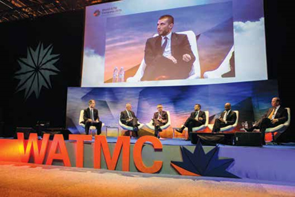 """Decisiones inteligentes en un mundo interconectado"". Fuente: World ATM Congress"