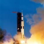 Despegue del Saturno V en la misión Apollo XIII