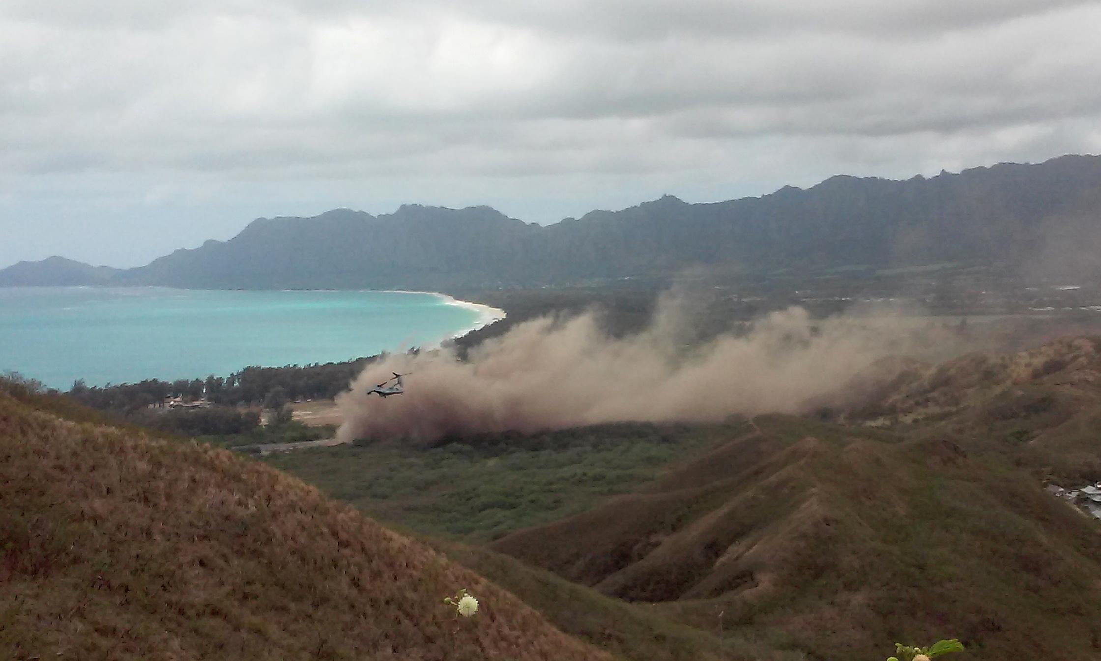 HAWAI-MILITAR ACCIDENTE