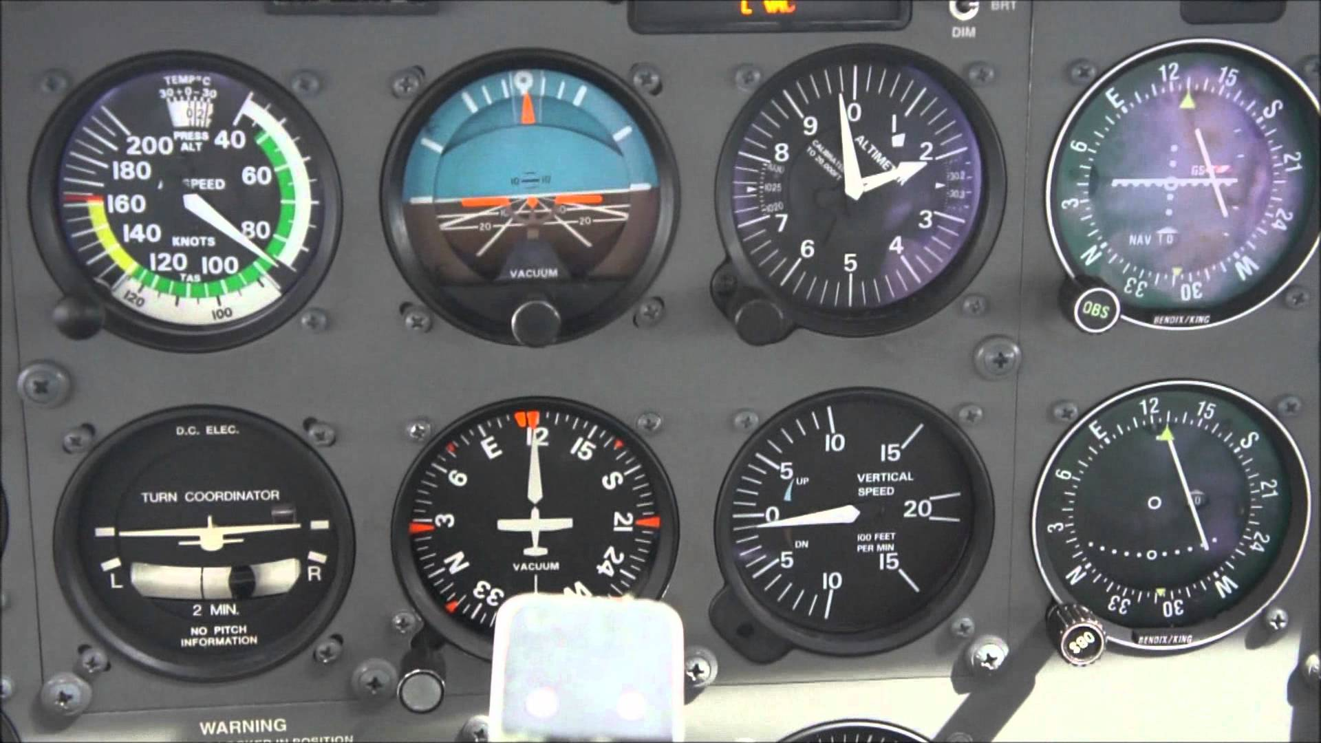 Panel de instrumentos de una C-172