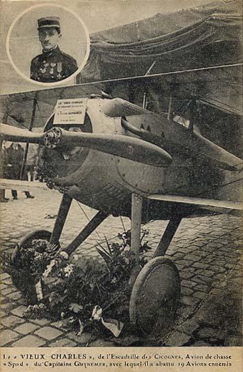 El SPAD matrícula S.254 con el que Guynemer abatió 19 aviones enemigos, expuesto en Los Inválidos, en París. www.earlyaeroplanes.com