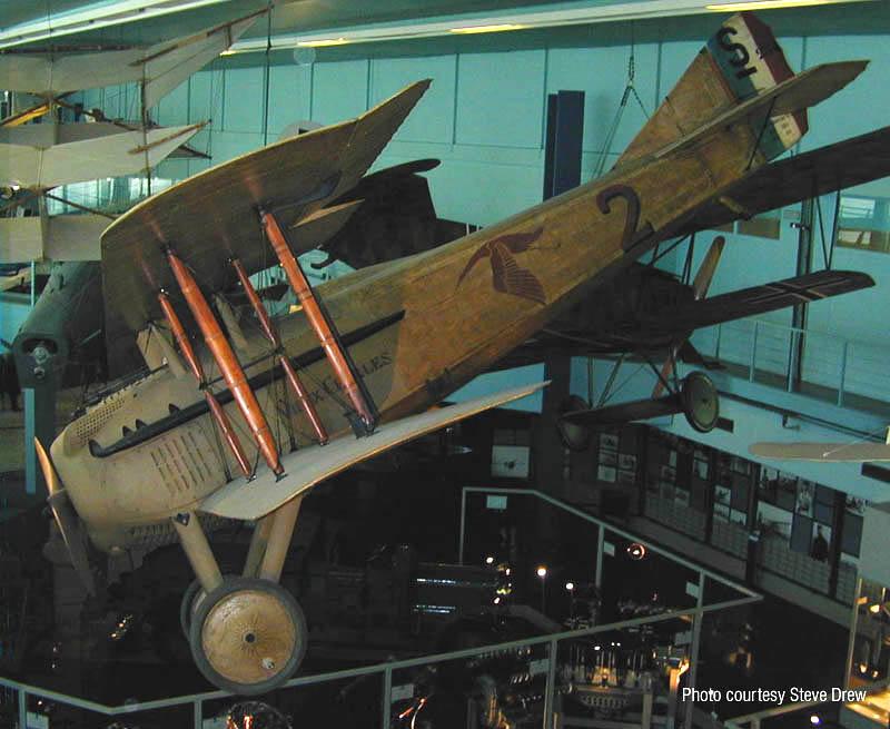 El SPAD matrícula S.254 en el Museo del Aire y del Espacio de Le Bourget, en la actualidad. www.earlyaeroplanes.com