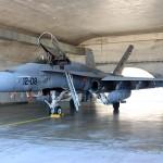 F-18 preparado para despegar en 15 minutos