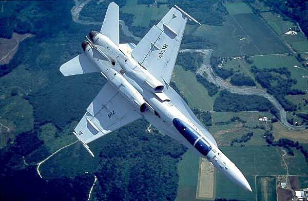 'Y funciona aún mejor en este CF 18 canadiense. Fuente: www.hyperstealth.com/