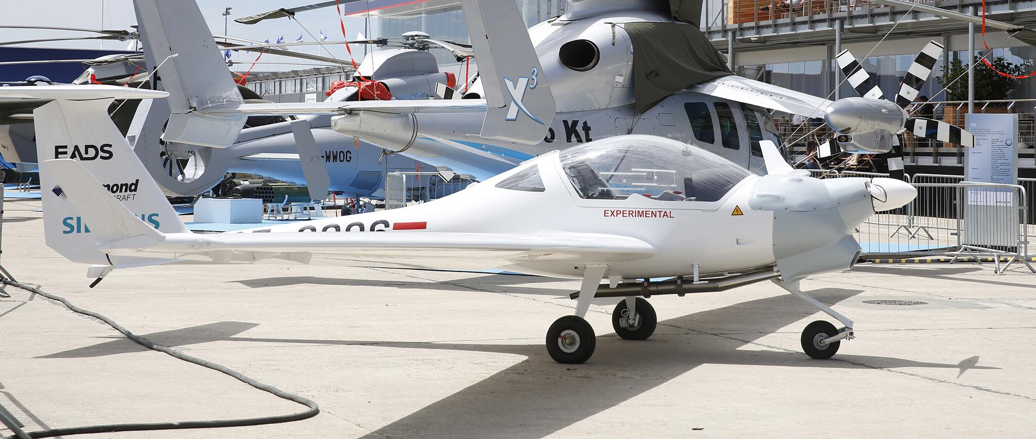 FOTO: Demostrador Diamond Aircraft DA36 E-Star. (AIRBUS)