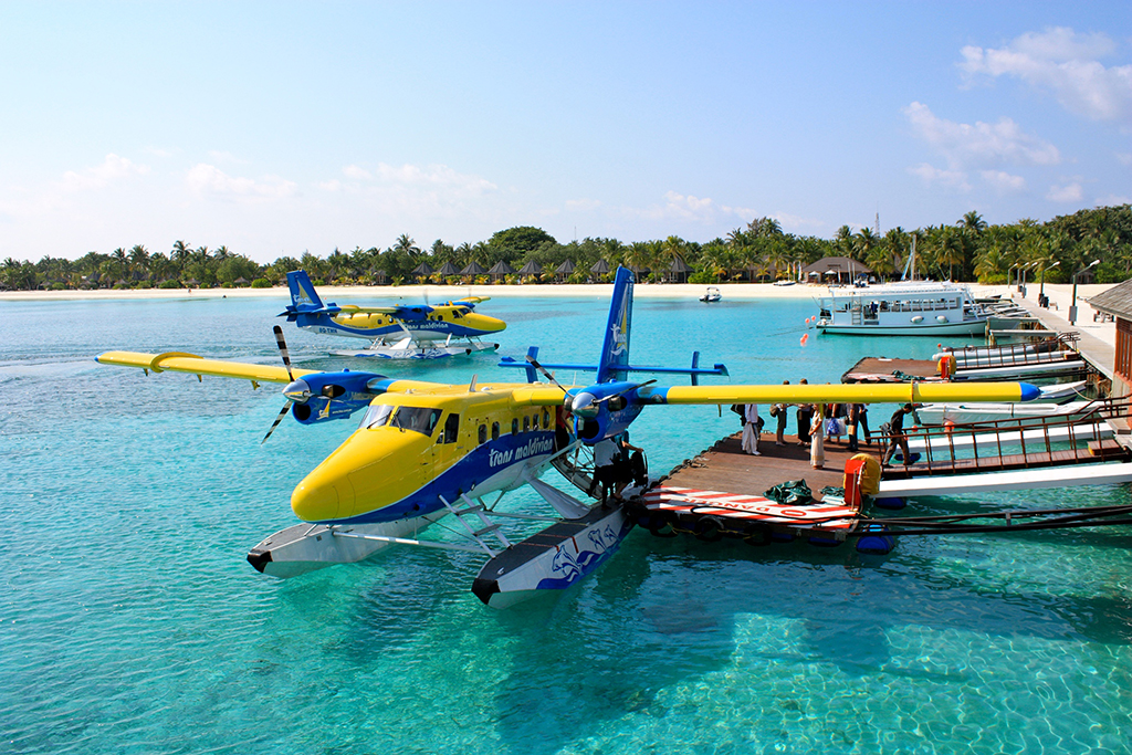 Twin Otter de Trans Maldivian Airways en Kuredu.