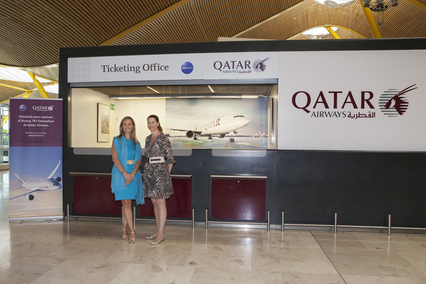 Qatar airways se estrena en madrid barajas con su b 787 for Oficina qatar airways madrid