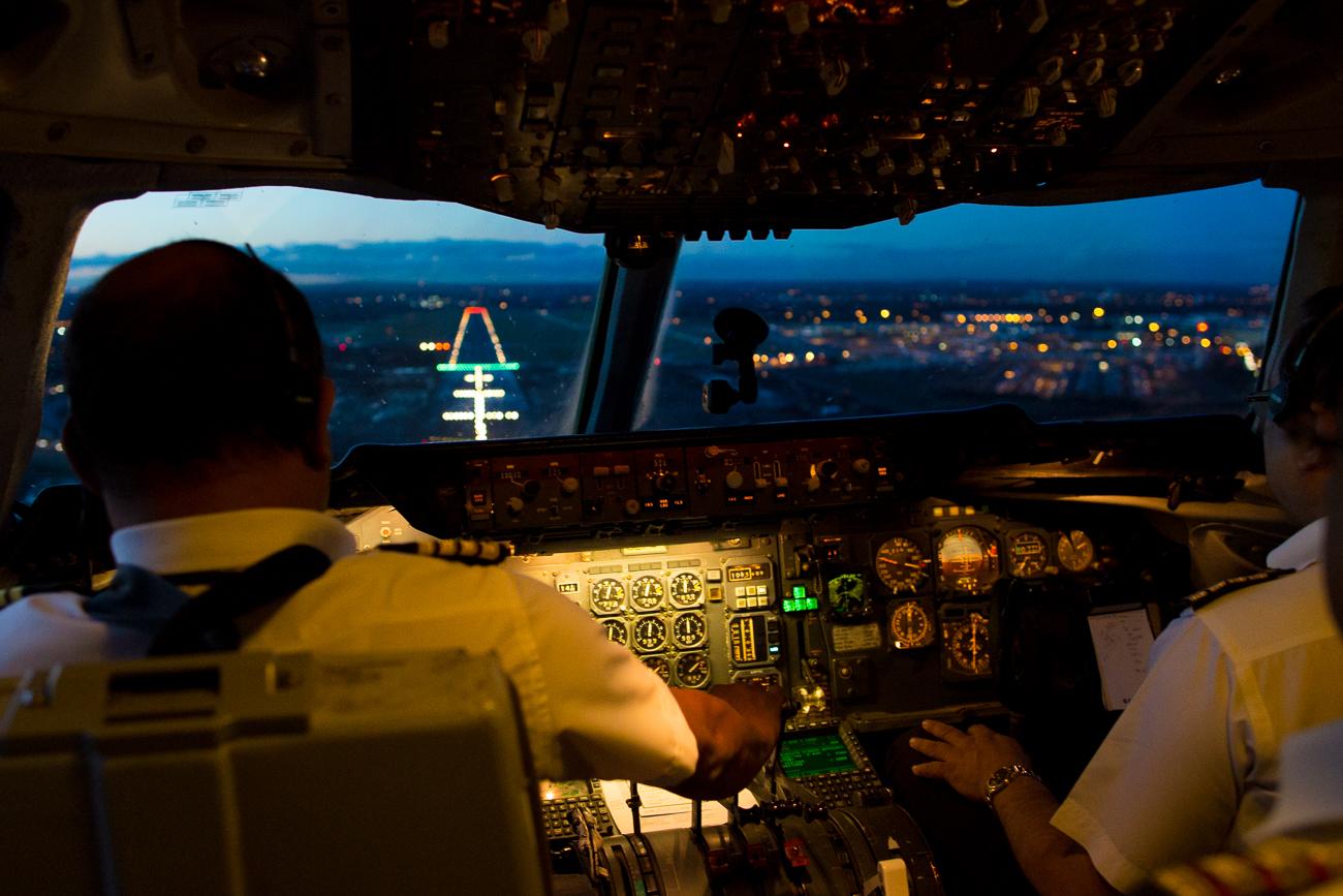 Cockpit de un DC-10