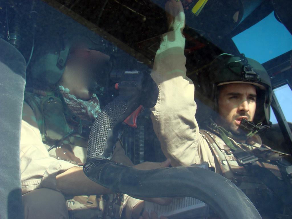 El autor durante una de las misiones HELISAF (copyright Fernando Arjona)