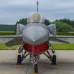 F-16 bloque 60 con CFT (Conformal Fuel Tanks) en la Base Aérea de Florennes, Bélgica. Autor: Eddie Jauck