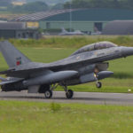 F-16 en Florennes AFB, Bélgica. Foto: Eddie Jauck.