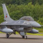 F-16 en Florennes, Bélgica. Foto Eddie Jauck.