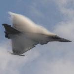 Rafale en vuelo en Florennes AFB, Bélgica. Foto: Eddie Jauck