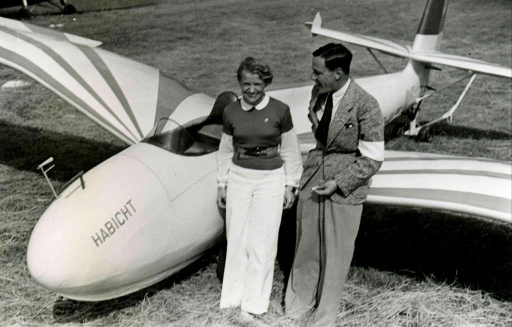 Hanna Reitsch en 1938 (Gerhard-Fieseler-Stiftung).