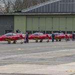 Patrulla Red Devils de la BAF preparada. Foto: @Eddie Jauck