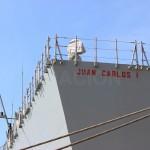 Detalle de la Popa del buque con el nombre.