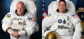 El astronauta de la NASA y Comandante de la Expedición 45 de la ISS Scott Kelly y el Ingeniero de Vuelo Kjell Lindgren. Image Credit: NASA