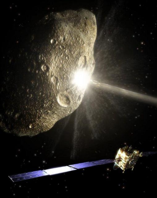 Una sonda europea observa cómo un interceptor cinético colisiona con un asteroide cercano para cambiar su órbita [ ESA ]