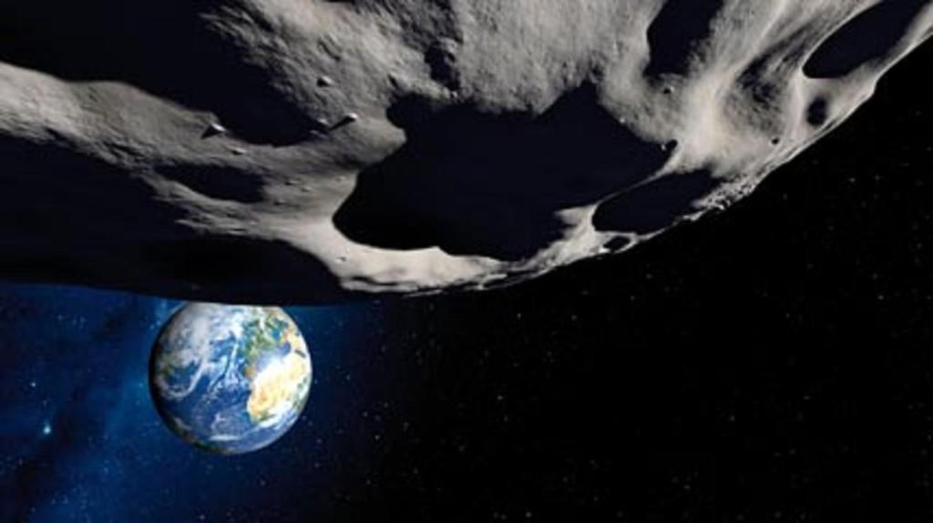 Foto: Recreación del Asteroide Apophis en su aproximación a la tierra . [ http://jonhjiosd.blogspot.com.es/ ]