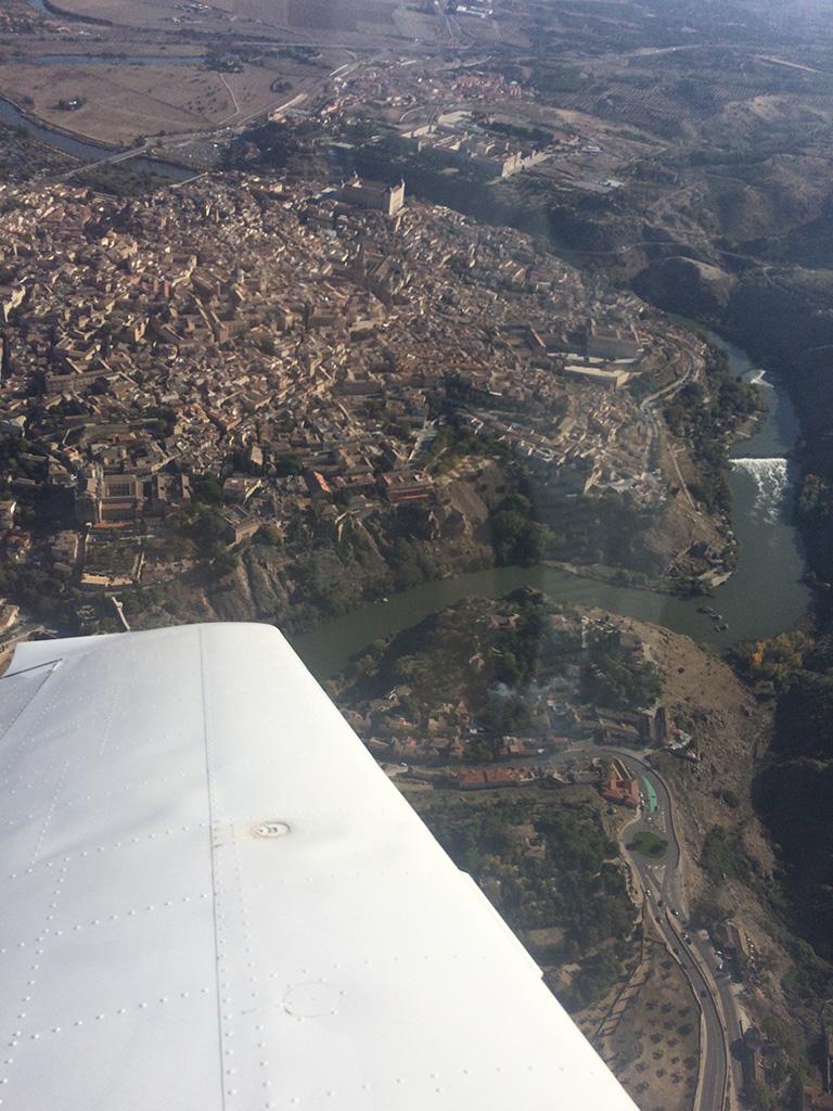 Toledo desde el aire. (Autor).
