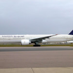 B-777-300ER de la ruta Jeddah – Los Ángeles de Saudia Airlines que recorre 13.390km en 15 horas y 56 minutos.