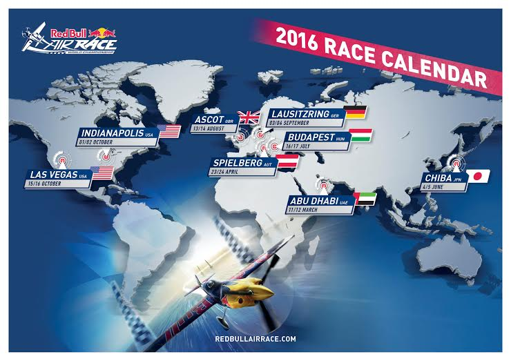 Calendario Red Bull Air Race 2016