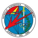 Emblema de la Patrulla Acrobatica Paracaidista del Ejercito del Aire - PAPEA