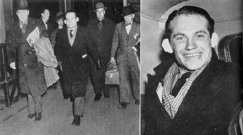 Instantáneas de von Werra durante su estancia en N. York tras huir de Canadá