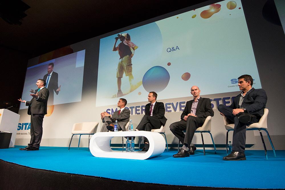 Debate sobre la gestión de identidades en aeropuertos. Foto: SITA.