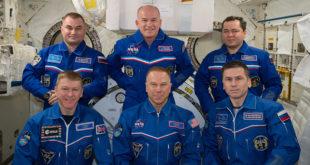 Astronautas de la expedición 47 y 48 en la Estación
