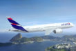 LATAM 787-9 over Rio (PRNewsFoto/LATAM Airlines Group S.A.)