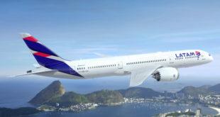 LATAM 787-9 over Rio (PRNewsFoto/LATAM Airlines Group S.A.)