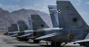 Línea de vuelo de los F-18 en Nellis. Foto: USAF Nellis