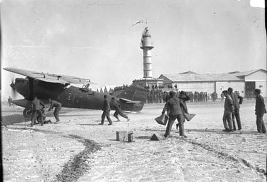 Salida del avión del aeródromo de Cuatro Vientos . Foto: Ejército del Aire