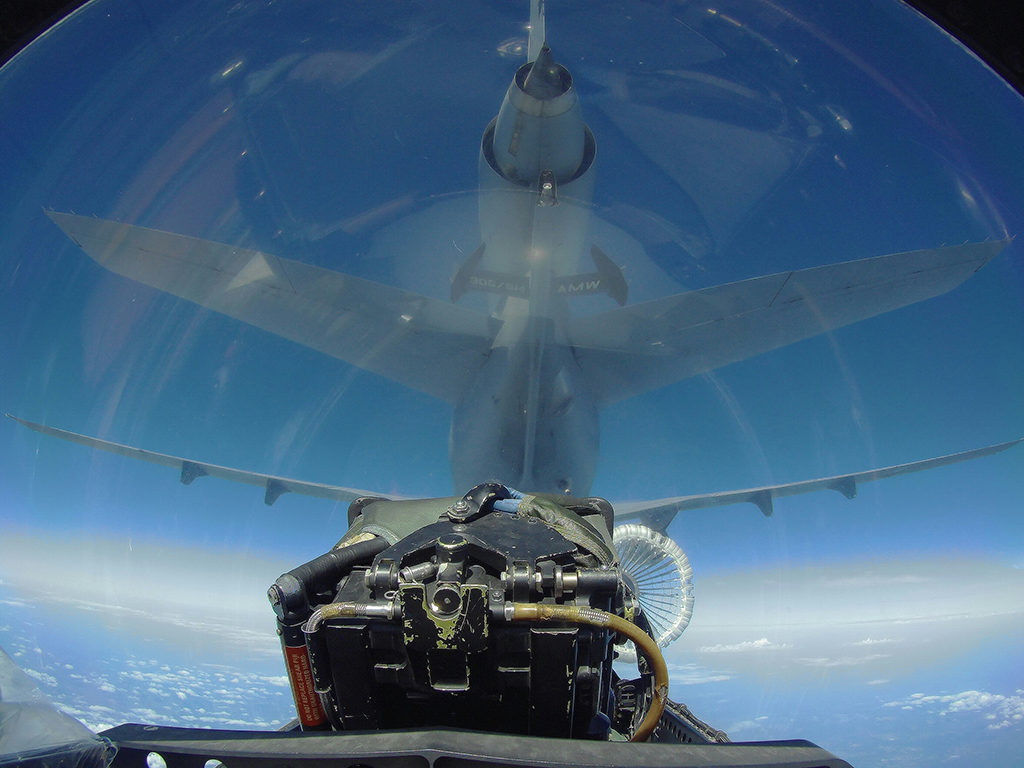 Repostaje de un KC-10 Extender estadounidense. Foto: Antonio Galán