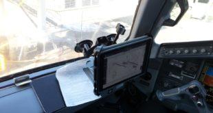imagen del iPad Air 2 EFB en un E190. En la aplicación FDD Pro se observa el diagrama de aeropuerto del Aeropuerto Tocumen Internacional (MPTO/PTY).
