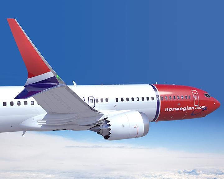 737 MAX 8 de Norwegian. Foto: Boeing