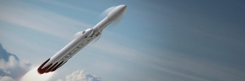 Cohete Falcon Heavy de SpaceX a la luna