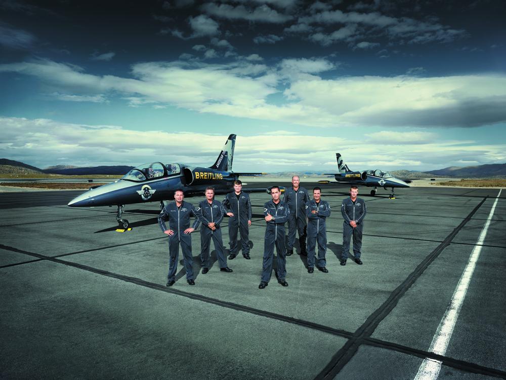 Mecánicos de la Breitling Jet Team. Foto: Breitling.