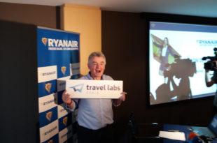 Michael O'Leary durante su encuentro con medios celebrado en Madrid