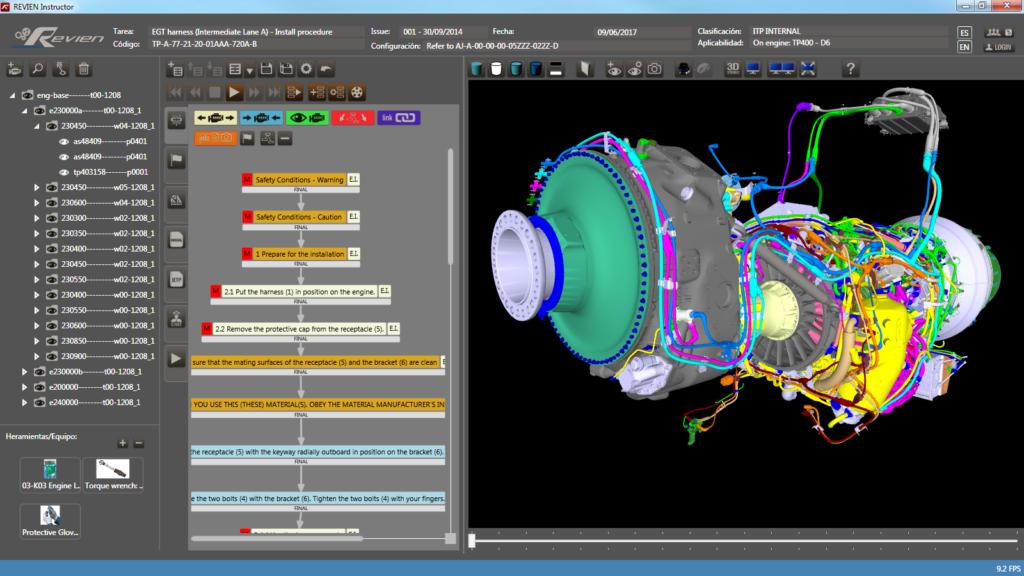 REVIEN motor TP400 realidad virtual