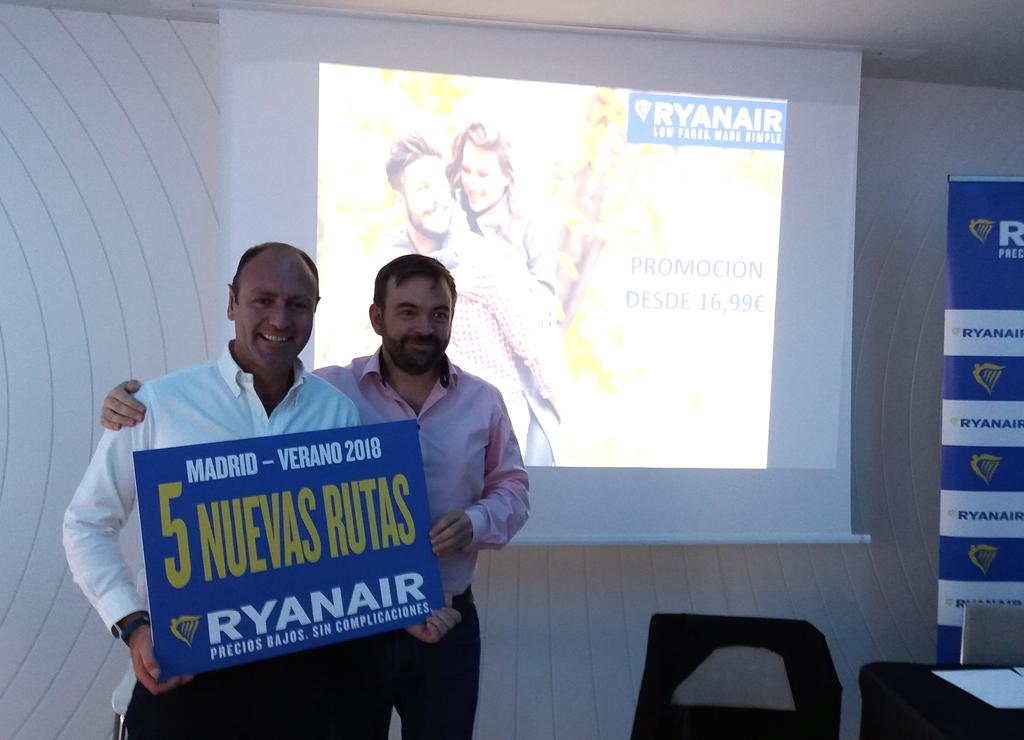 Ryanair crecimiento del 9% en Madrid