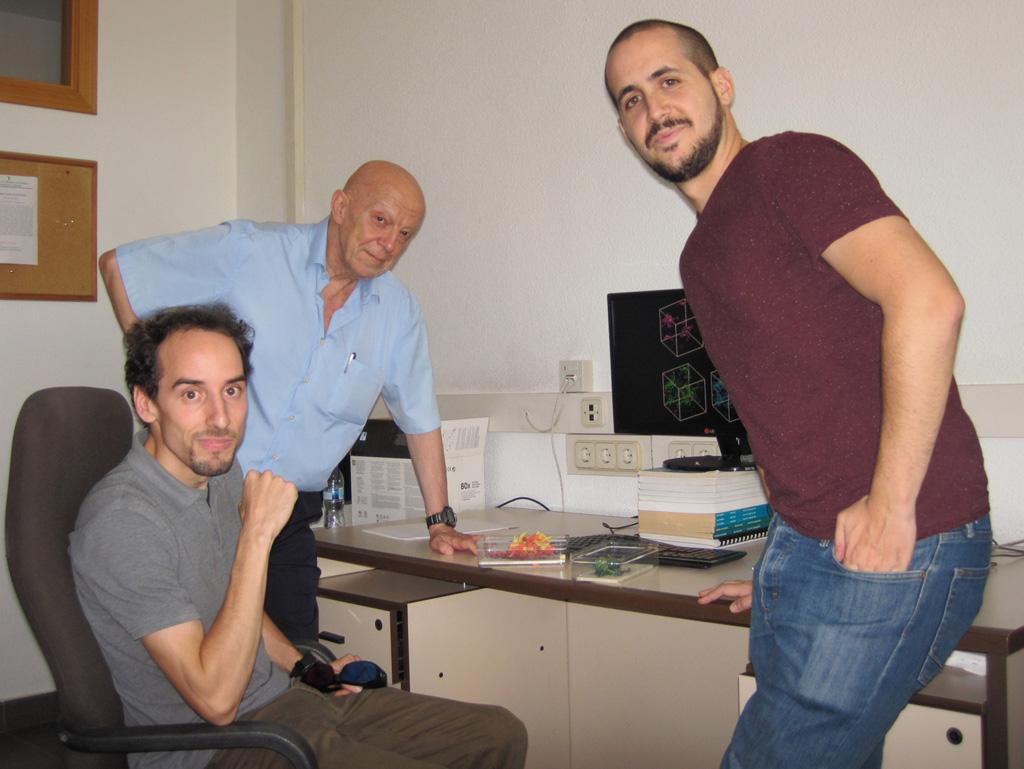 De izquierda a derecha: José Cardesa, Javier Jimenez y Alberto Vela-Martín